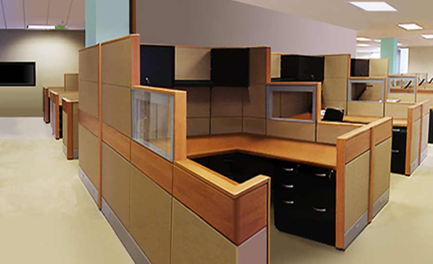 Add warmth to your office with wood accents